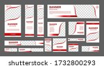 set of creative web banners of...   Shutterstock .eps vector #1732800293
