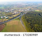 aerial view of suburban...   Shutterstock . vector #173280989