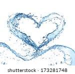 Water Splash Heart Isolated On...