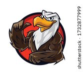 cartoon eagle muscle mascot logo | Shutterstock .eps vector #1732877999