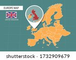 united kingdom map in europe... | Shutterstock .eps vector #1732909679