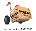 upgrade slogan on cardboard box ... | Shutterstock . vector #173296208