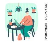 vector illustration of sweet... | Shutterstock .eps vector #1732975439