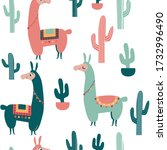 seamless colourful pattern with ... | Shutterstock .eps vector #1732996490