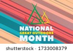 national great outdoors month.... | Shutterstock .eps vector #1733008379