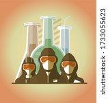 scientists  lifeguards  doctors ... | Shutterstock .eps vector #1733055623