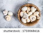 Raw Mini Mushroom Champignon In ...