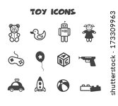 toy icons  mono vector symbols