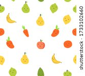 fruits  vegetables  berries... | Shutterstock .eps vector #1733102660