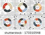 vector circle infographics set. ... | Shutterstock .eps vector #173310548