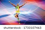 olympic games  tokyo 2020. 2021 ... | Shutterstock .eps vector #1733107463