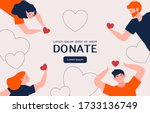 people hands with hearts for... | Shutterstock .eps vector #1733136749