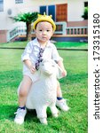 Small photo of bestride sheep baby