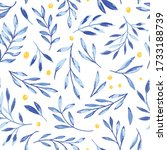 vector blue gouache textured... | Shutterstock .eps vector #1733188739