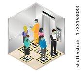 new normal isometric  social...   Shutterstock .eps vector #1733193083