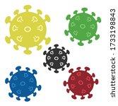 colorful coronavirus  covid 19... | Shutterstock .eps vector #1733198843