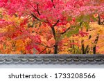 Japanese Roof With Colorful...