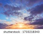 Beautiful Vibrant Sunset Sky...