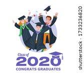 graduating class of 2020 banner ... | Shutterstock .eps vector #1733236820
