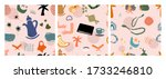 hand drawn various shapes and... | Shutterstock .eps vector #1733246810