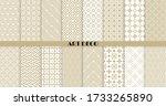 vector art deco seamless... | Shutterstock .eps vector #1733265890