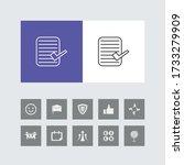 creative check list line icon...