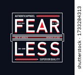 fearless typography for print t ... | Shutterstock .eps vector #1733284313
