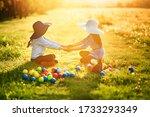 Two Little Girls In Big Hats...