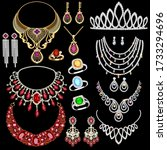 illustration of a jewelry set...   Shutterstock .eps vector #1733294696