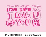 doodles freehand letters love... | Shutterstock .eps vector #173331293