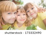 unusual low angle view portrait ... | Shutterstock . vector #173332490