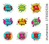 colour speech bubbles we are... | Shutterstock .eps vector #1733325236