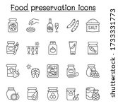 preserved food icons set in... | Shutterstock .eps vector #1733331773