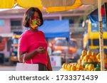 A Beautiful African Girl Buyin...