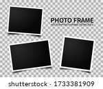 realistic photo frames. images... | Shutterstock .eps vector #1733381909