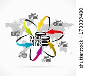database synchronization  | Shutterstock .eps vector #173339480