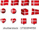 various designs of the denmark...   Shutterstock . vector #1733394950