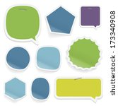 labels and stickers on white... | Shutterstock . vector #173340908