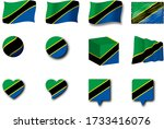 various designs of the tanzania ...   Shutterstock . vector #1733416076