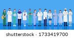 world health day  group of... | Shutterstock .eps vector #1733419700