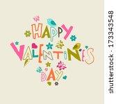 happy valentines day...   Shutterstock .eps vector #173343548