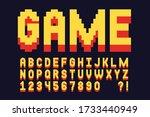 pixel font video computer game... | Shutterstock .eps vector #1733440949