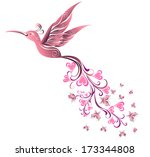 tattoo hummingbird. vector