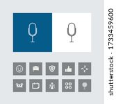 creative microphone line icon...