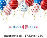 independence day greeting card...   Shutterstock .eps vector #1733464280