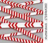 signal tape industrial border...   Shutterstock .eps vector #1733464283