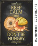 keep calm and don't be hungry... | Shutterstock .eps vector #1733481446