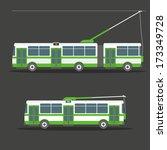 vector city electric trolleybus ... | Shutterstock .eps vector #173349728