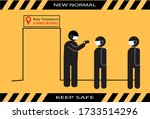 new normal keep safe icon...   Shutterstock .eps vector #1733514296