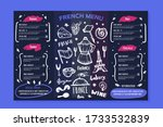 french bakery menu design on... | Shutterstock .eps vector #1733532839